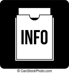 Info folder icon simple