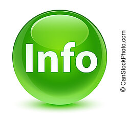 Info glassy green round button
