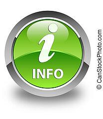 Info glossy green round button