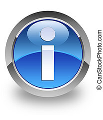 Info glossy icon - Info icon on glossy blue round button