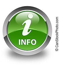 Info glossy soft green round button