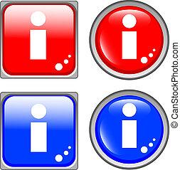 info glossy web button