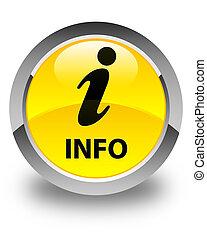 Info glossy yellow round button