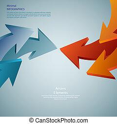 info, gráfico, arrows., detalhado, lata, ser, usado, para, infographics