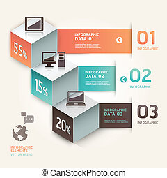 info, grafiek, moderne, technology.