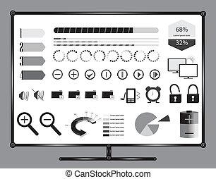info, grafik, computermonitor