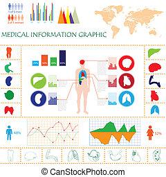 info, grafisch, medisch