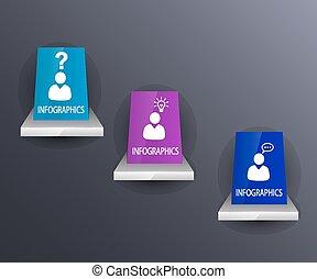 info, grafisk, färgrik
