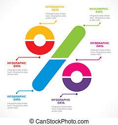 info-graph, százalék, kreatív, aláír