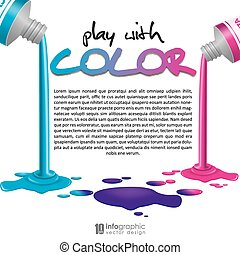 info graphic background-CMYK colors - info graphic...