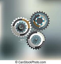 Info graphic circle diagram.