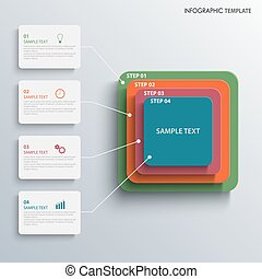 Info graphic with colorful design pyramid labels template