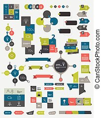 Info graphics flat design diagrams.