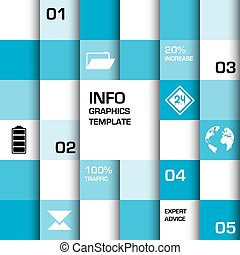 Info graphics template blue