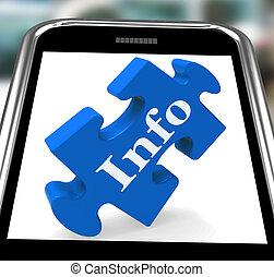info, hulp, smartphone, optredens