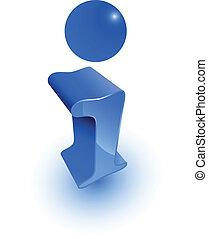 3d blue info icon