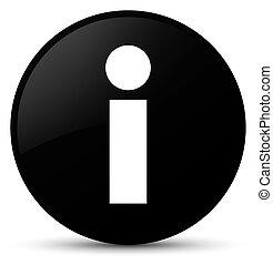 Info icon black round button
