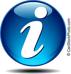 Blue generic glossy information icon
