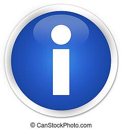 Info icon blue glossy round button