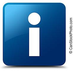 Info icon blue square button