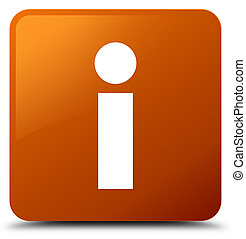 Info icon brown square button