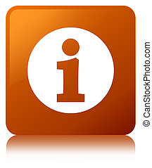 Info icon brown square button