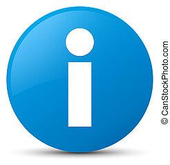 Info icon cyan blue round button