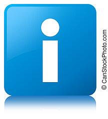 Info icon cyan blue square button