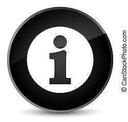 Info icon elegant black round button
