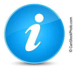 Info icon elegant cyan blue round button