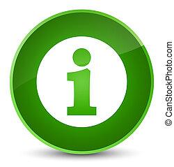 Info icon elegant green round button