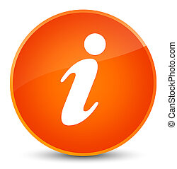Info icon elegant orange round button