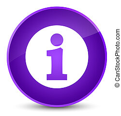 Info icon elegant purple round button