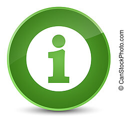 Info icon elegant soft green round button