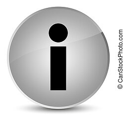 Info icon elegant white round button