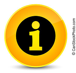 Info icon elegant yellow round button
