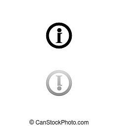 Info icon flat