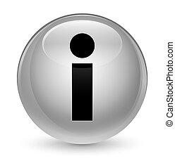 Info icon glassy white round button