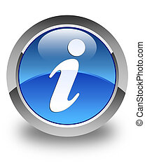 Info icon glossy blue round button 2