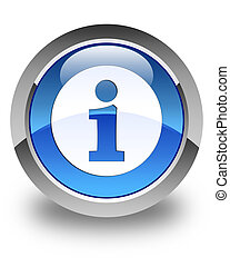 Info icon glossy blue round button 3