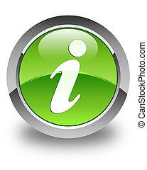 Info icon glossy green round button 2