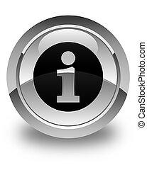 Info icon glossy white round button