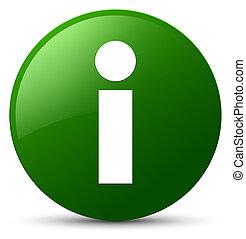 Info icon green round button