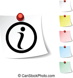 Info  icon. - Info sheet icon. Vector illustration. .