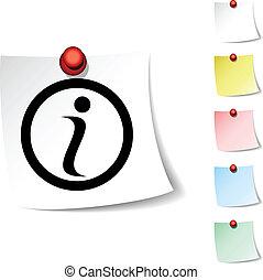 Info  icon. - Info sheet icon. Vector illustration. .