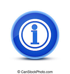 Info icon isolated on blue round button abstract button abstract