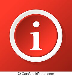 Info icon on red