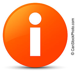 Info icon orange round button