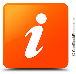 Info icon orange square button