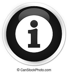 Info icon premium black round button